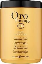 Parfumuri și produse cosmetice Mască revitalizantă cu microparticule de aur activ pentru păr - Fanola Oro Therapy Oro Puro Mask