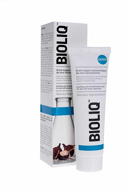 Cremă cu efect de calmare și întărire pentru pielea cu capilare dilatate - Bioliq Dermo Face Cream