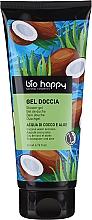 """Parfumuri și produse cosmetice Gel de duș """"Apă de cocos și aloe"""" - Bio Happy Shower Gel Coconut Water And Aloe"""