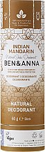 "Parfumuri și produse cosmetice Deodorant ""Indian Mandarine"" (tub de carton) - Ben & Anna Natural Soda Deodorant Paper Tube Indian Mandarine"