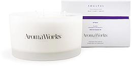 """Parfumuri și produse cosmetice Lumânare parfumată """"Soulfulness"""" pentru 3 fitile - AromaWorks Soulful Candle 3-wick"""
