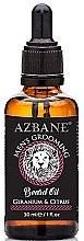 """Parfumuri și produse cosmetice Ulei de barbă """"Geraniu și Citrice"""" - Azbane Mens Grooming Beard Oil Geranium & Citrus"""