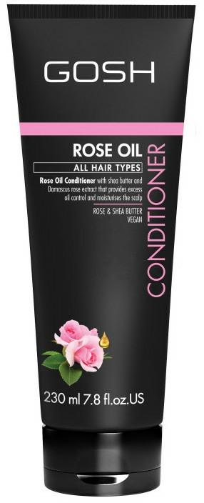 Balsam cu ulei de trandafir pentru păr - Gosh Rose Oil Conditioner — Imagine N1