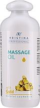 """Parfumuri și produse cosmetice Ulei pentru masaj """"Aur"""" - Hristina Professional Gold Massage Oil"""