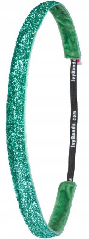 "Bandă de cauciuc pentru păr ""Tropical Green Glitter"" - Ivybands — Imagine N1"
