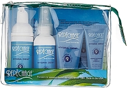 Parfumuri și produse cosmetice Set - Repechage Hydra Dew Travel Collection Set (mask/30ml + gel/cr/15ml + f/cr/15ml + toner/60ml + clean/mousse/45ml + bag)