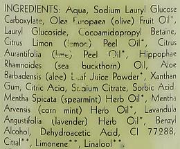 Gel natural cu lime și mentă pentru duș - Uoga Uoga Natural Shower Gel — Imagine N3