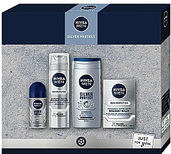Parfumuri și produse cosmetice Set - Nivea Men Silver Protect 2020 (balm/100ml + foam/200ml + shower/gel/250ml + deo/50ml)