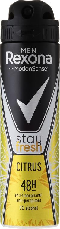 "Deodorant spray ""Citrus"" - Rexona Men Stay Fresh Citrus Deodorant Spray"