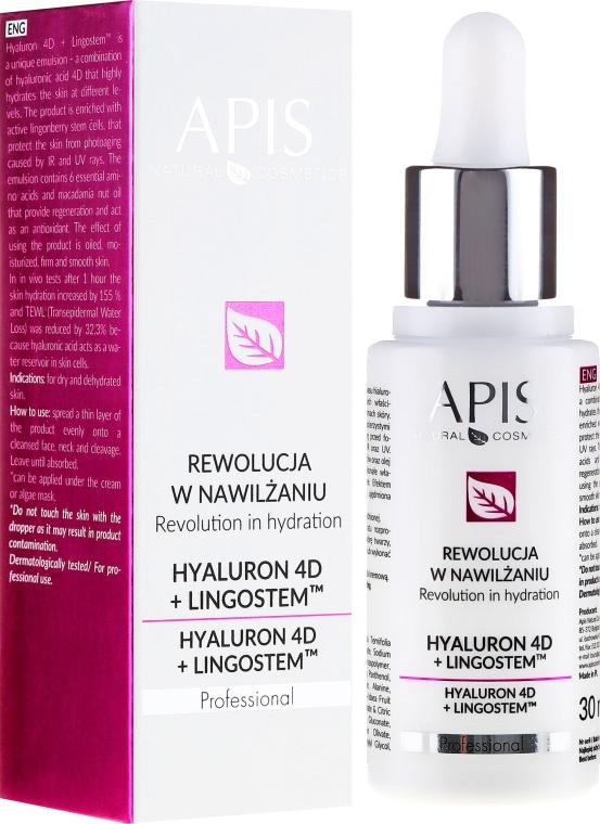 Emulsie hidratantă pentru față - APIS Professional 4D Hyaluron + Lingostem