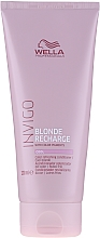 Parfumuri și produse cosmetice Balsam pentru păr vopsit - Wella Professionals Invigo Blonde Recharge Conditioner For Cool Blonde
