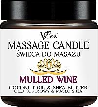"""Parfumuri și produse cosmetice Lumânare pentru masaj """"Mulled Wine"""" - VCee Massage Candle Mulled Wine Coconut Oil & Shea Butter"""