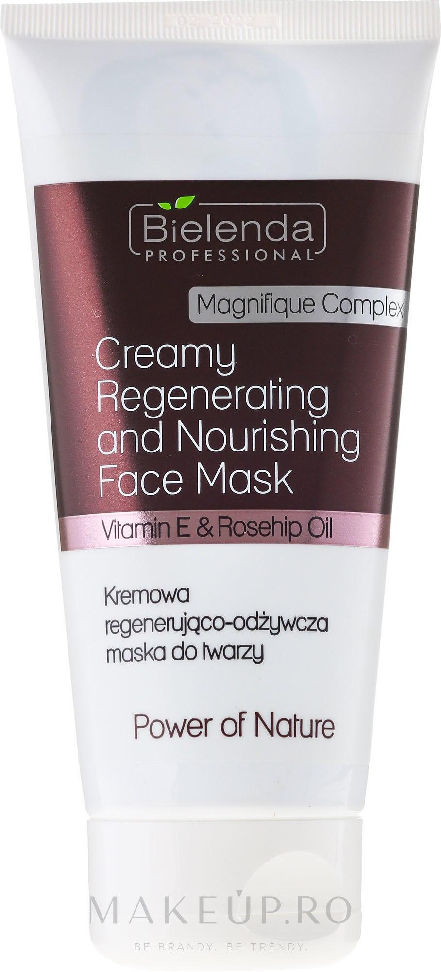 Crema regeneratoare pentru mâini - Bielenda Professional Power Of Nature Creamy Regenerating And Nourishing Face Mask — Imagine 150 ml