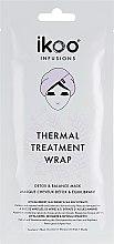 """Parfumuri și produse cosmetice Mască termică de păr """"Detox și echilibru"""" - Ikoo Infusions Thermal Treatment Wrap"""