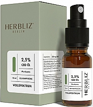 """Parfumuri și produse cosmetice Ulei spray pentru cavitatea bucală """"Măsline"""" 2,5% - Herbliz CBD Olive Fresh Oil Mouth Spray 2,5%"""