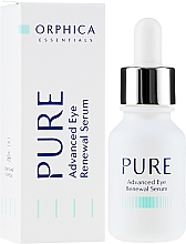 Parfumuri și produse cosmetice Ser pentru ochi - Orphica Pure Advanced Eye Renewal Serum