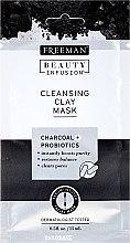 Parfumuri și produse cosmetice Mască de față purificatoare cu carbon activ, probiotice și ser - Freeman Beauty Infusion Cleansing Clay Mask Charcoal & Probiotics (miniatură)