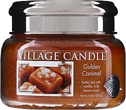 Parfumuri și produse cosmetice Lumânare parfumată, în borcan - Village Candle Gold Caramel