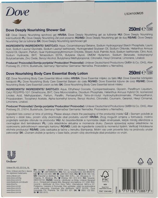 Set - Dove Nourishing Beauty Gift Set (sh/gel/250ml+b/milk/250ml) — Imagine N2