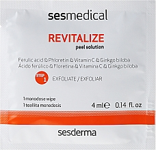 Peeling iluminant pentru față - Sesderma Sesmedical Revitalize Personal Peeling Program (cr/15ml + wipe/4x4ml) — Imagine N3