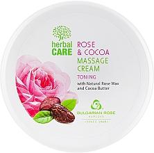 Parfumuri și produse cosmetice Cremă pentru masaj, cu efect tonifiant - Bulgarian Rose Herbal Care Rose & Cococa Massage Cream