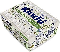 Parfumuri și produse cosmetice Bețișoare de bumbac pentru bebeluși și copii - Kindii Bamboo Cotton Buds