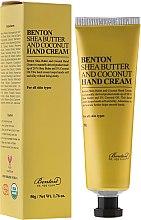 Parfumuri și produse cosmetice Cremă cu unt de Shea pentru mâini - Benton Shea Butter and Coconut Hand Cream