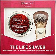 Parfumuri și produse cosmetice Set - Men Rock The Life Shaver Black Pomegranate Kit (brush/1pcs + sh/cr/100ml)
