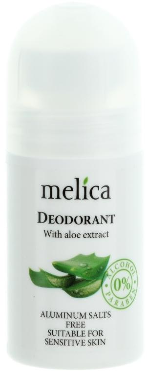 Deodorant cu extract de aloe - Melica Organic With Aloe Extract Deodorant — Imagine N1