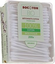 Parfumuri și produse cosmetice Bețișoare din bumbac, 200 bucăți - Bocoton Bio