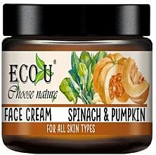 """Parfumuri și produse cosmetice Cremă de față """"Dovleac și spanac"""" - Eco U Pumpkins And Spinach Face Cream"""
