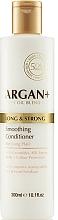Parfumuri și produse cosmetice Balsam cu ceramide pentru păr - Argan + Long & Strong Smoothing Conditioner