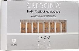 Parfumuri și produse cosmetice Fiole pentru stimularea creșterii părului, pentru bărbați 1700 - Crescina Hair Follicular Islands Re-Growth 1700