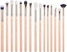 Parfumuri și produse cosmetice Set pensule pentru machiaj, T447, 15buc - Jessup