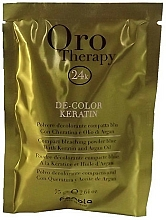 Parfumuri și produse cosmetice Pudră decolorantă cu cheratină, albastră - Fanola Oro Therapy Color Keratin