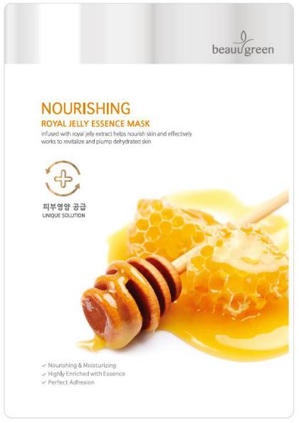 Mască nutritivă din țesut de față, cu jeleu regal - BeauuGreen Nourishing Royal Jelly Essence Mask — Imagine N1