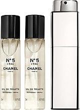 Parfumuri și produse cosmetice Chanel N5 L'Eau Purse Spray Refills - Apă de toaletă (rezervă)
