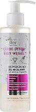 """Parfumuri și produse cosmetice Gel de curățare matifiant pentru spălarea și eliminarea machiajului """"Cărbune alb"""" - Bielenda Carbo Detox Micellar Gel"""