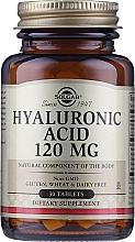 "Parfumuri și produse cosmetice Supliment alimentar ""Acid hialuronic"" 120 mg - Solgar Hyaluronic Acid"