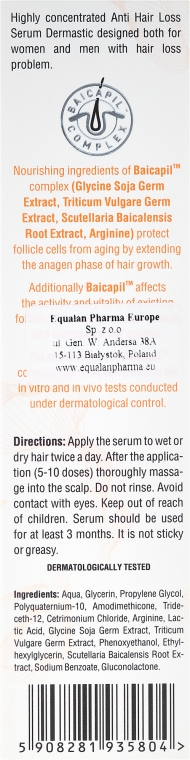Ser pentru păr - Dermastic Anti Hair Serum — Imagine N3
