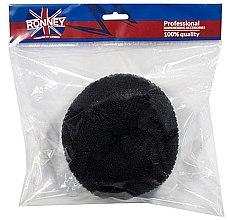 Parfumuri și produse cosmetice Burete pentru coc, 15x6.5 cm, negru - Ronney Professional Hair Bun 055