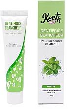 Parfumuri și produse cosmetice Pastă cu efect de albire și aromă de mentă pentru dinți- Keeth Mint-flavoured Whitening Toothpaste