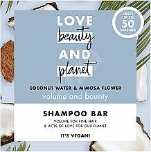 """Parfumuri și produse cosmetice Șampon solid pentru volumul părului """"Cocos și mimoză"""" - Love Beauty And Planet Coconut & Mimosa Shampoo"""