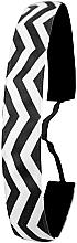 Parfumuri și produse cosmetice Bandă elastică de păr, alb-neagră - Ivybands Chevron Black White Hair Band