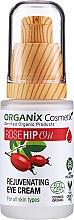 Parfumuri și produse cosmetice Cremă cu efect de întinerire pentru zona ochilor - Organix Cosmetix Rose Hip Oil Rejuvenating Eye Cream