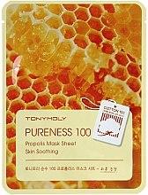 Parfumuri și produse cosmetice Mască de țesut cu extract de propolis - Tony Moly Pureness 100 Propolis Mask Sheet