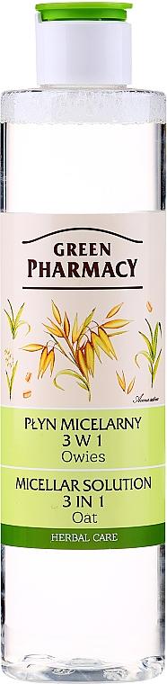 """Apă micelară 3în1 """"Ovăz"""" - Green Pharmacy Micellar Solution 3 in 1 Oat"""