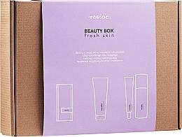 Parfumuri și produse cosmetice Set - Resibo Fresh Skin (accessories/1pcs + gel/125ml + cr/50ml)