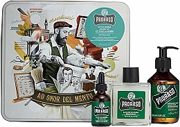 Parfumuri și produse cosmetice Set pentru îngrijirea bărbii - Proraso Refreshing Gift Set (beard wash/200ml + beard balm/100ml + beard oil/30ml)