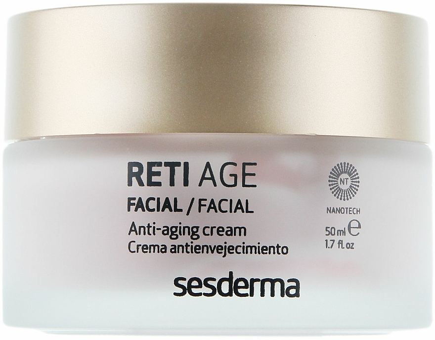 Cremă anti-îmbătrânire pentru pielea uscată a feței, cu trei tipuri de retinol - SesDerma Laboratories Reti Age Facial Antiaging Cream 3-Retinol System — Imagine N2